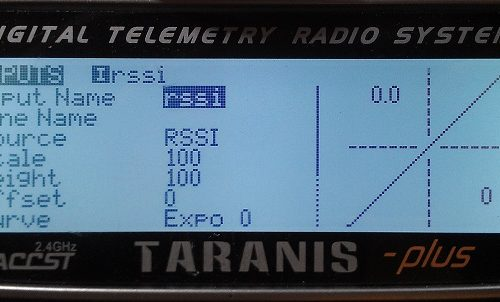 RSSI Taranis Channel Input Settings