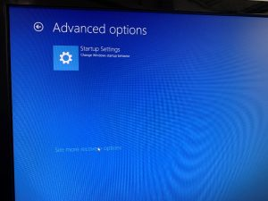 windows advanced option