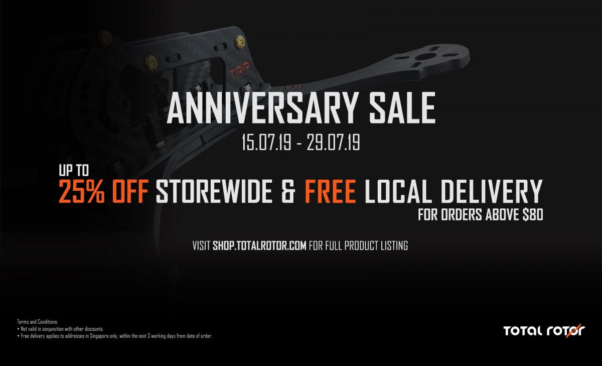 Total Rotor Anniversary Sale: 15 to 29 July 2019